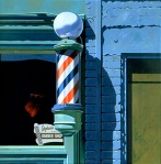 """Barber Shop"" by Robert Cottingham / www.seavestcollection.org"