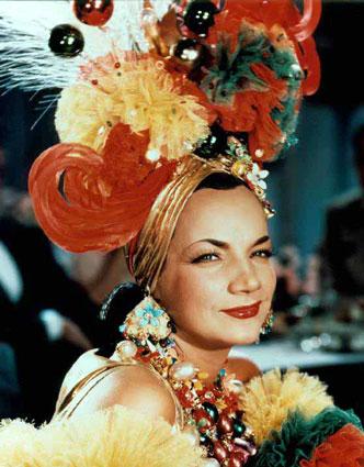 The allusion to Carmen Miranda