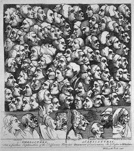 """Characters and Caricatures"" by William Hogarth"
