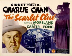 "Monogram Studios, which made the 15 Charlie Chan films in which Moreland appeared, thought enough of his comic abilities to give him second billing in ""The Scarlet Clue."""