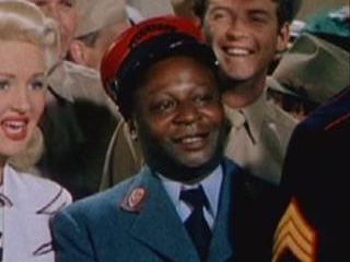 "Mantan Moreland in the 1944 film ""Pinup Girl."""