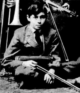 The young JACK BENNY (Benjamin Kubelsky) with his violin.
