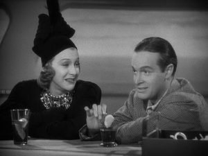 "SHIRLEY ROSS and BOB HOPE sing ""Thanks for the Memory"" in ""The Big Broadcast of 1938."""