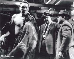 "Anthony Quinn, Jackie Gleason, and Mickey Rooney in ""Requiem for a Heavyweight"""
