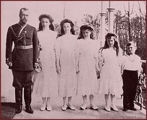 NICHOLAS and his children, OLGA, TATIANA, MARIA, ANASTASIA, and ALEXEI.