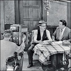 Art Carney and Jackie Gleason during one of the filming sessions Joyce Randolph described.