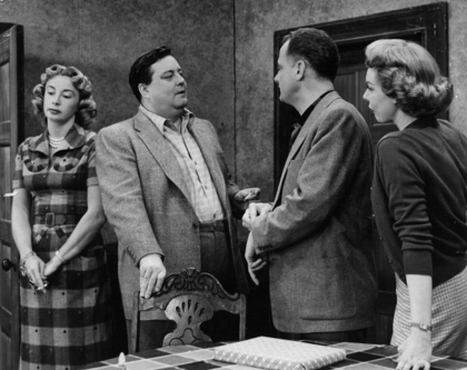 Audrey Meadows, Jackie Gleason, Art Carney, and Joyce Randolph.