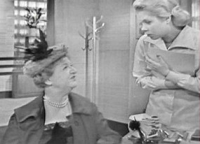 "MARION LORNE, left, and ELIZABETH MONTGOMERY in a scene from ""Harvey."""