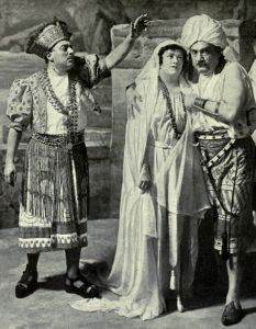 "GIUSEPPE DE LUCA, FREIDA HEMPL, and ENRICO CARUSO in ""The Pearl Fishers,"" 1916"