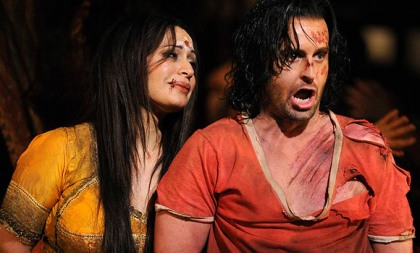 HANAN ALATTAR and ALFIE BOE in a production of