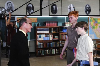 From left, ED HARRIS, ALEXANDER WALTERS, and CHASE ELLISON.