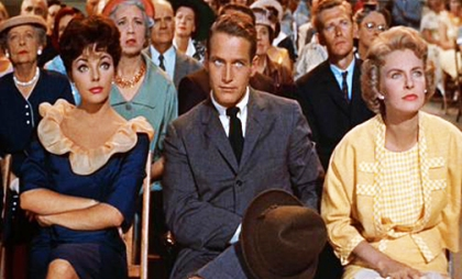 JOAN COLLINS, PAUL NEWMAN, and JOANNE WOODWARD